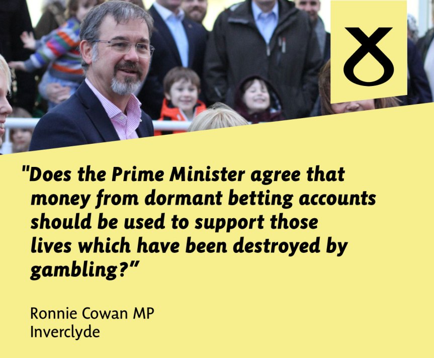 Questioning the Prime Minister on Dormant Betting Accounts