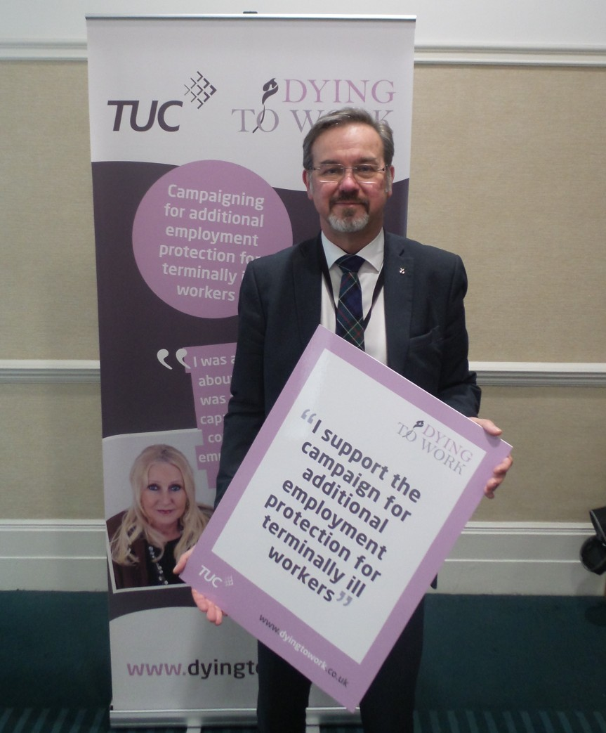 Dying to Work Campaign in Parliament