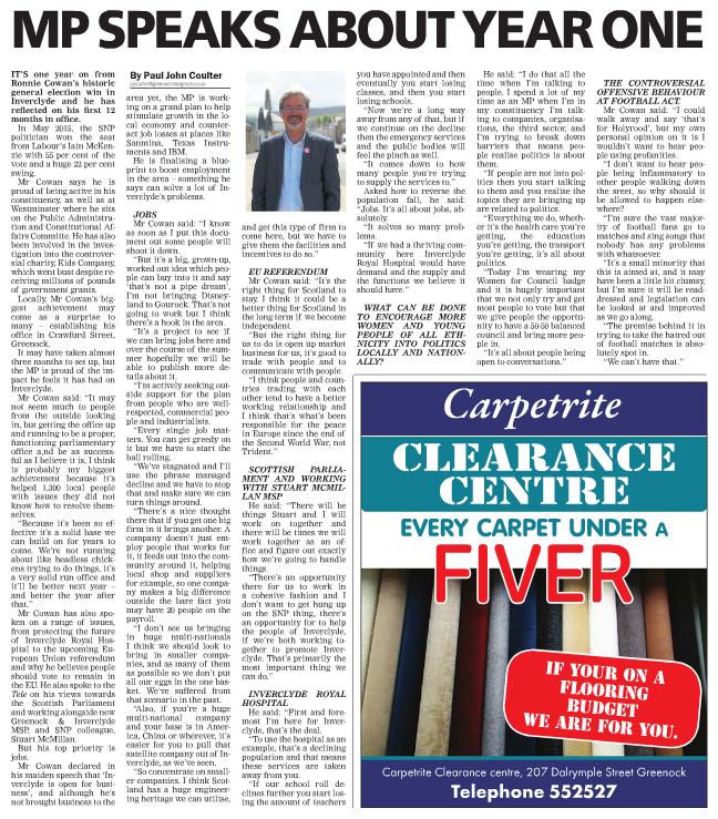Greenock Telegraph [30/05/2016]