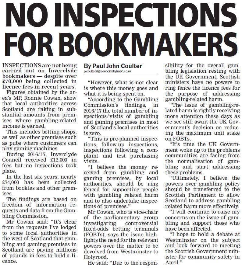 Greenock Telegraph [21/04/2018]