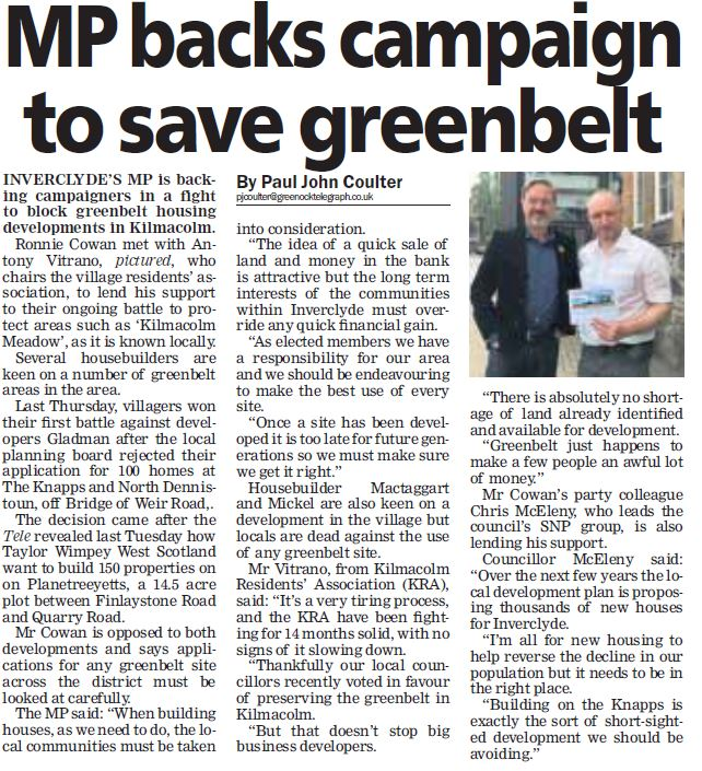 Greenock Telegraph [19/06/2018]