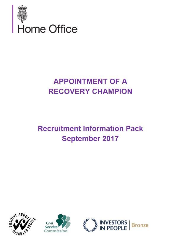 Appointment of a RecoveryChampion