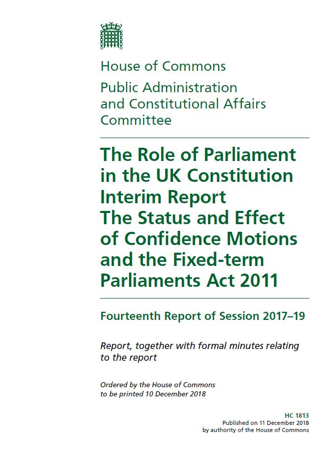 PACAC – Fixed-term Parliaments Act 2011