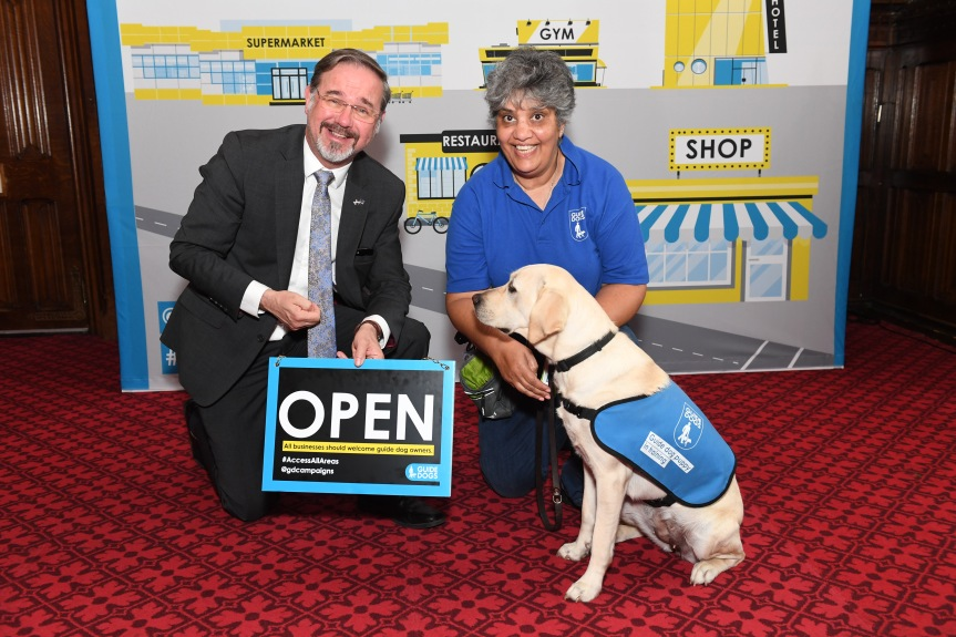 Guide Dog lobby of UK Parliament