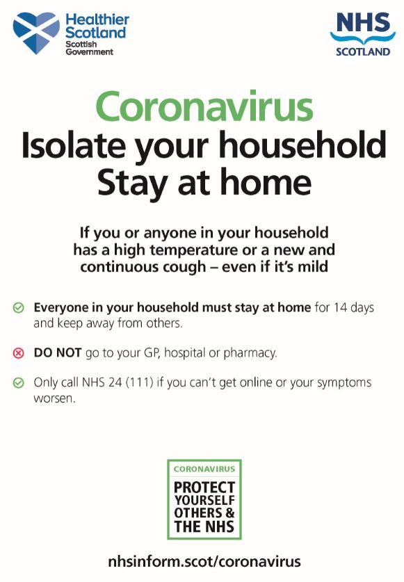 Coronavirus – household information