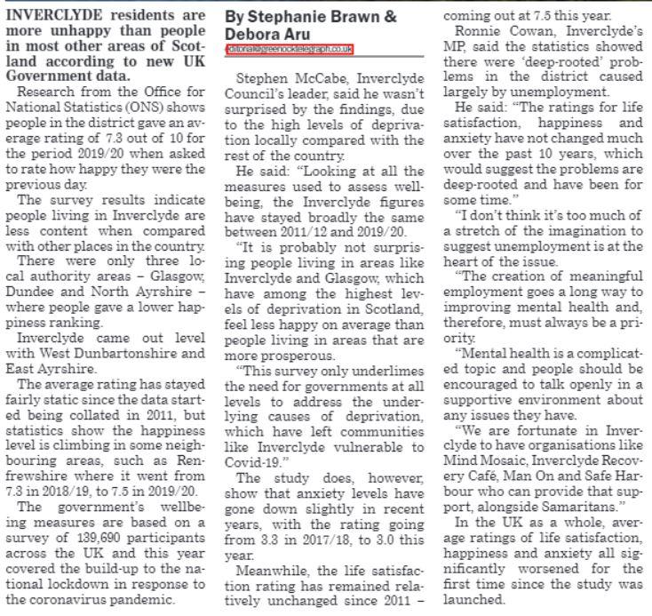 Greenock Telegraph [18/08/2020]