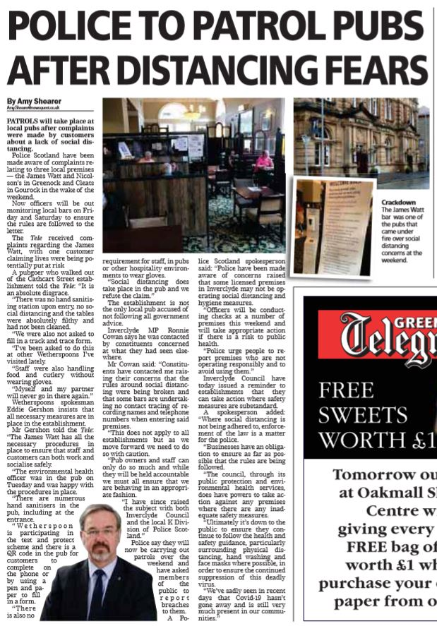 Greenock Telegraph [31/07/2020]