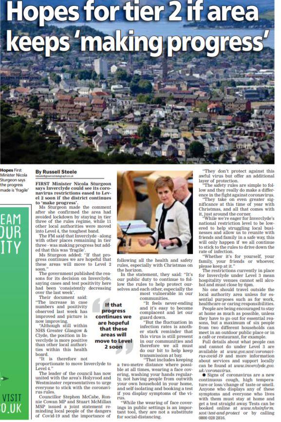 Greenock Telegraph [18/11/2020]