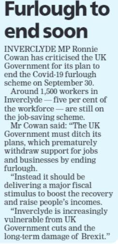 Greenock Telegraph [22/09/2021]